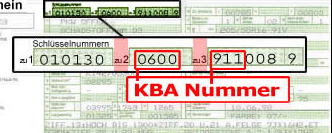 KBA Number Example 2