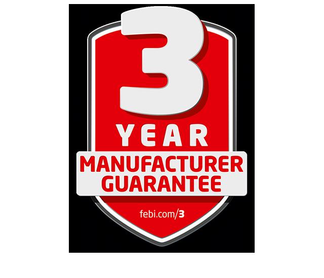 3 years warranty febi